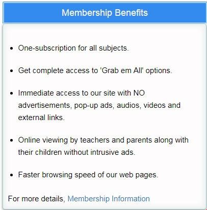 membership benefit chart