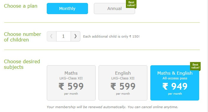 membership fee for math student