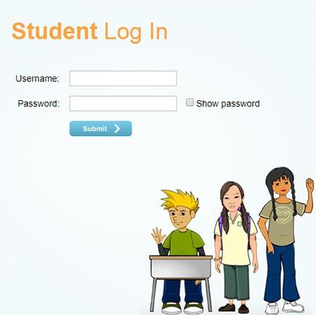 student math login form