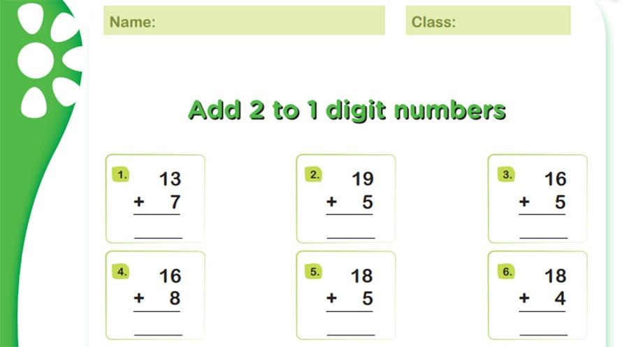 summation math worksheets