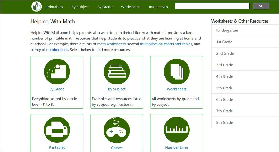 Free Math Facts Worksheets Helpingwithmath