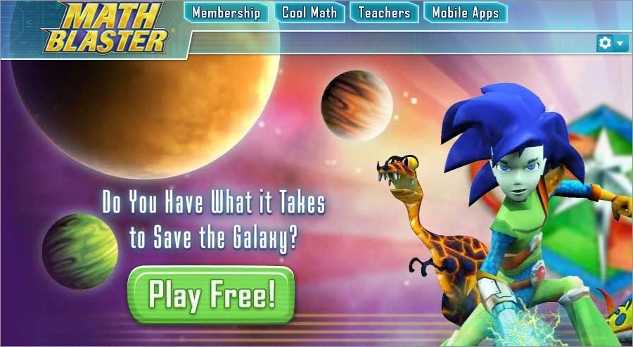 Free Math Worksheets Math Blaster