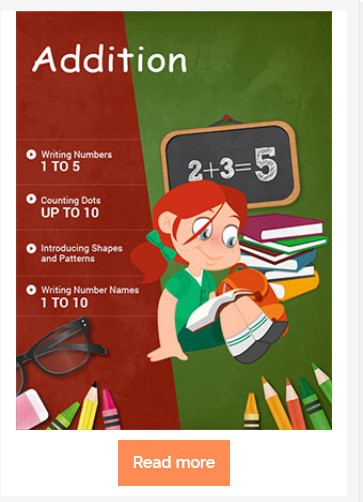 addition math worksheet for first grade