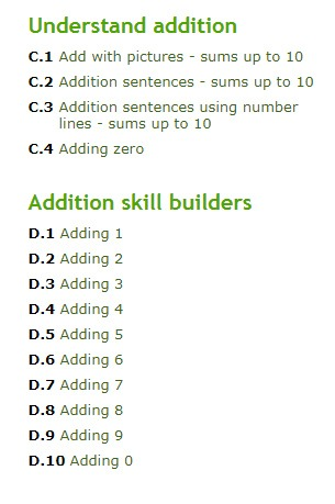 addition exercise for grade one