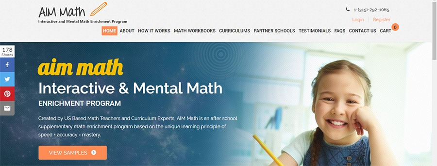aimmath addition math worksheet