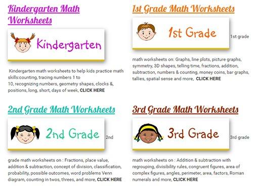 kid math worksheet
