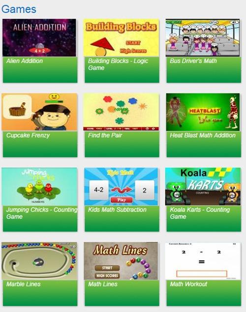 math worksheet game for kids