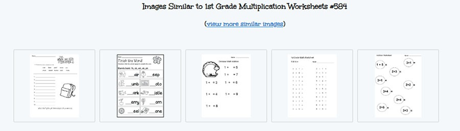 first-grade multiplication worksheet