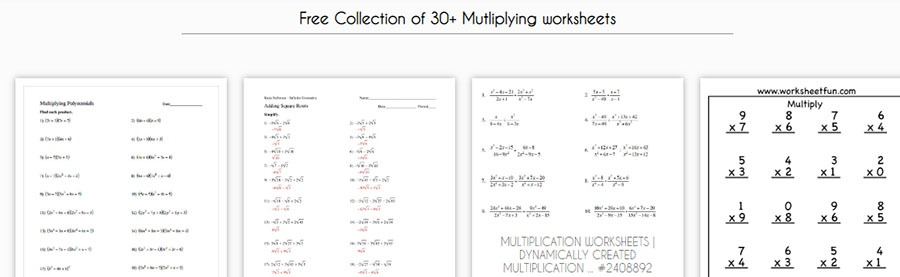 multiplication exercise collection