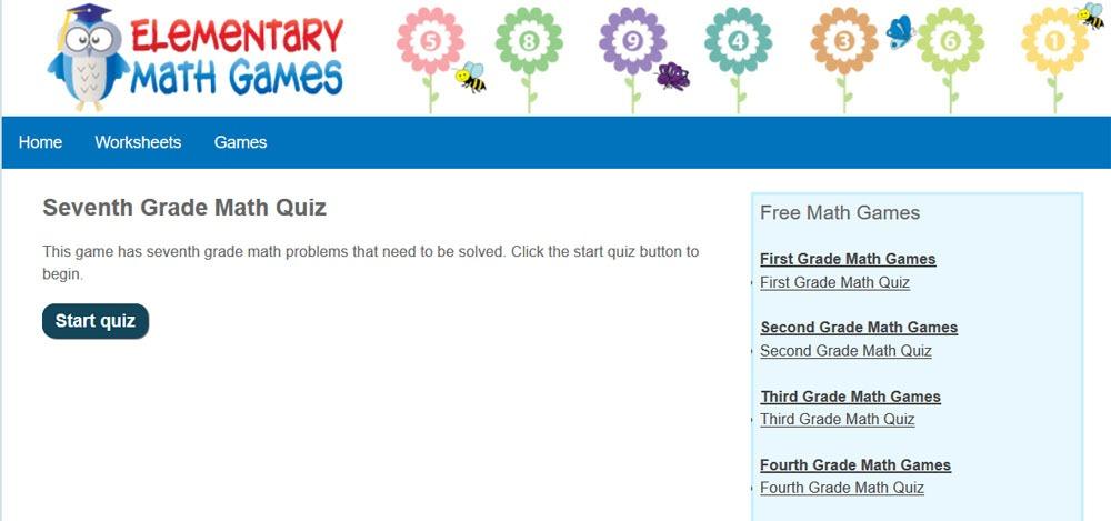 seventh grade math worksheets free