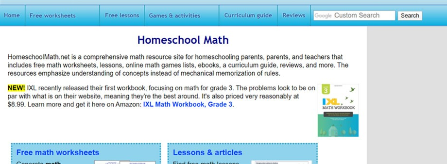 free 4th grade math worksheets with homeschoolmath