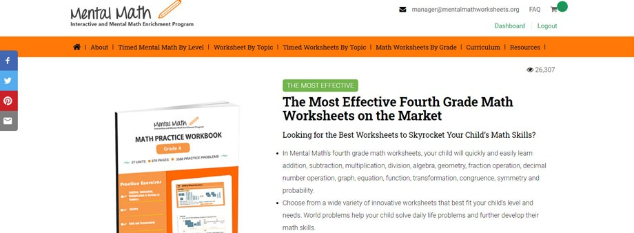 free 4th grade math worksheets with mentalmathworksheets