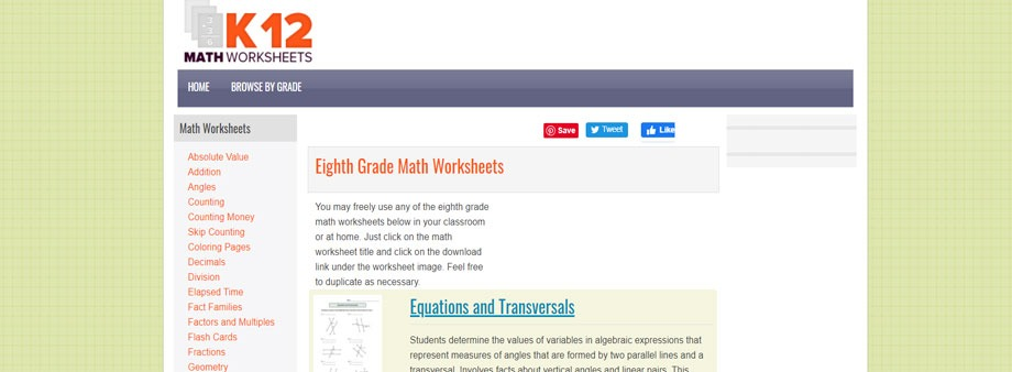 free 8thgrade math worksheets with k12mathworksheets