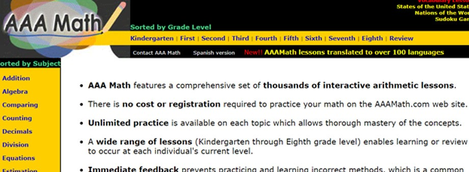 free fourth grade math worksheets with aaamath