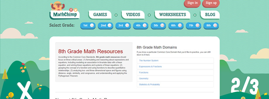 free math worksheets 8thgrade with mathchimp