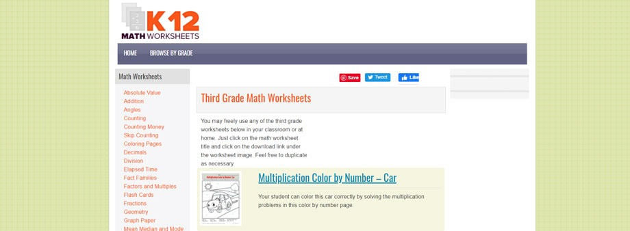 free printable 3rd grade math worksheets with k12mathworksheets