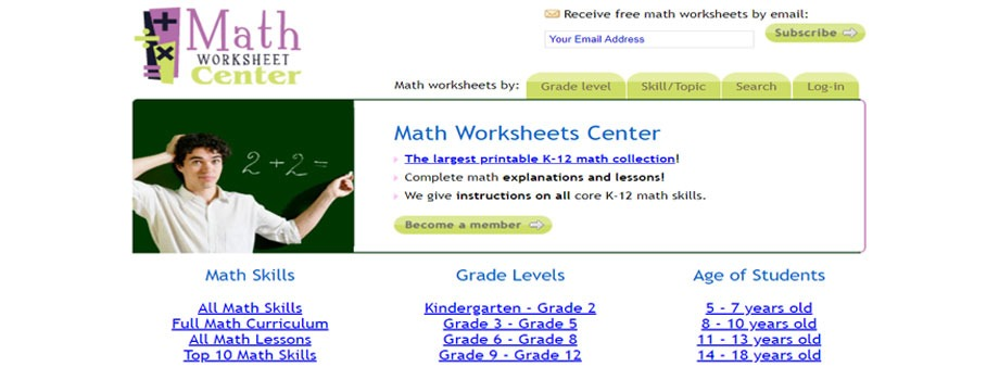 free printable 8thgrade math worksheets Math Worksheets Center
