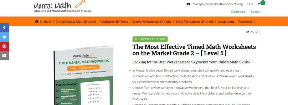 free second grade math worksheets