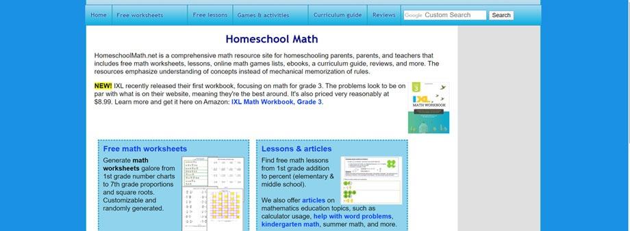 free third grade math worksheets with homeschoolmath