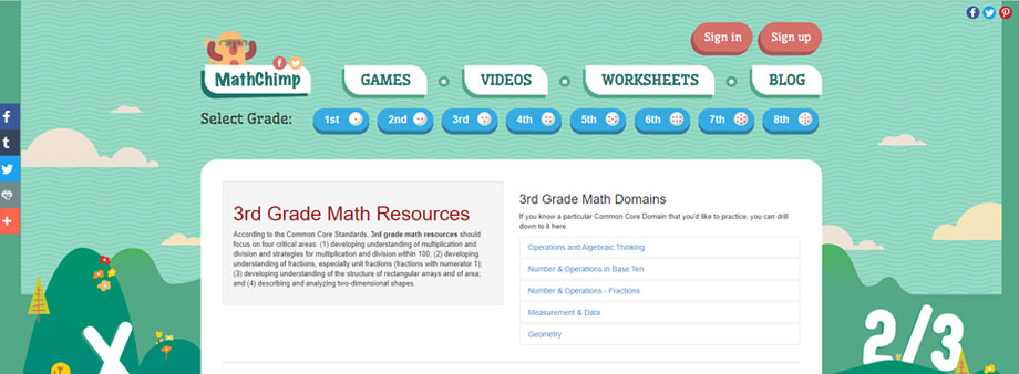 free third grade math worksheets with mathchimp