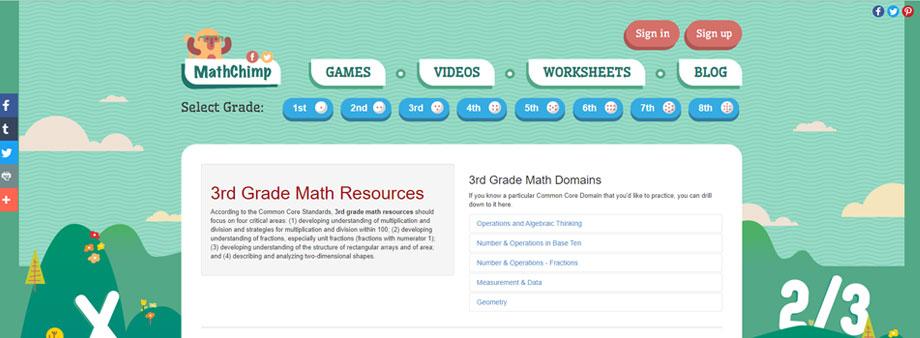 free third grade math worksheets with mathchimp