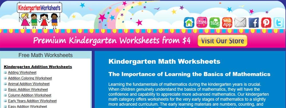 kinder garten worksheets for kids