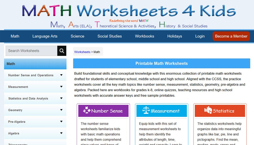 free math worksheets for 7th grade