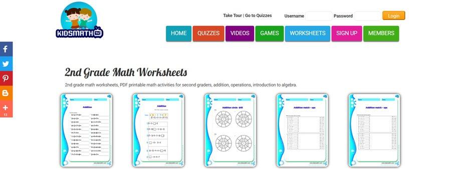 second grade math worksheets free